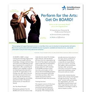 Arts & Business Council of Chicago Onboard Flyer