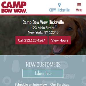 Camp Bow Wow - Full HTML mobile