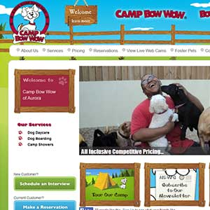 Camp Bow Wow - Original Website